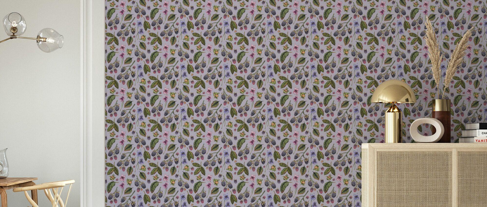 Bramble Hill Púrpura - Papel pintado - Salón