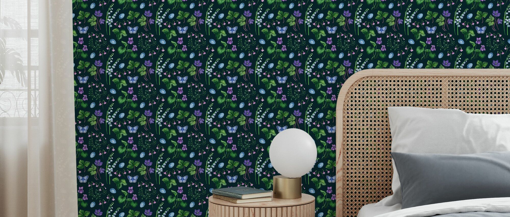 The Forest Meadow Night - Wallpaper - Bedroom