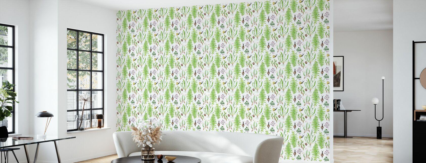 The Moss Garden After Rain - Wallpaper - Living Room
