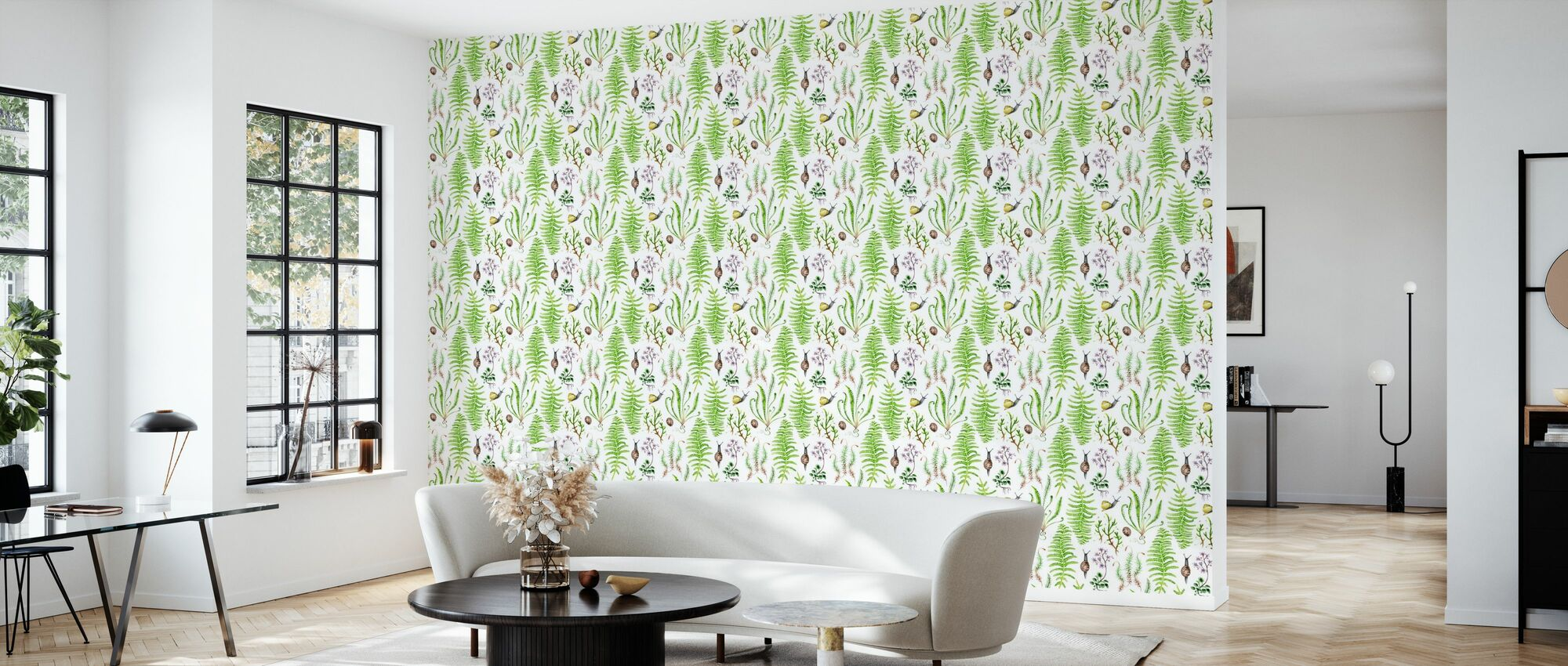 The Moss Garden After Rain - Wallpaper - Living Room