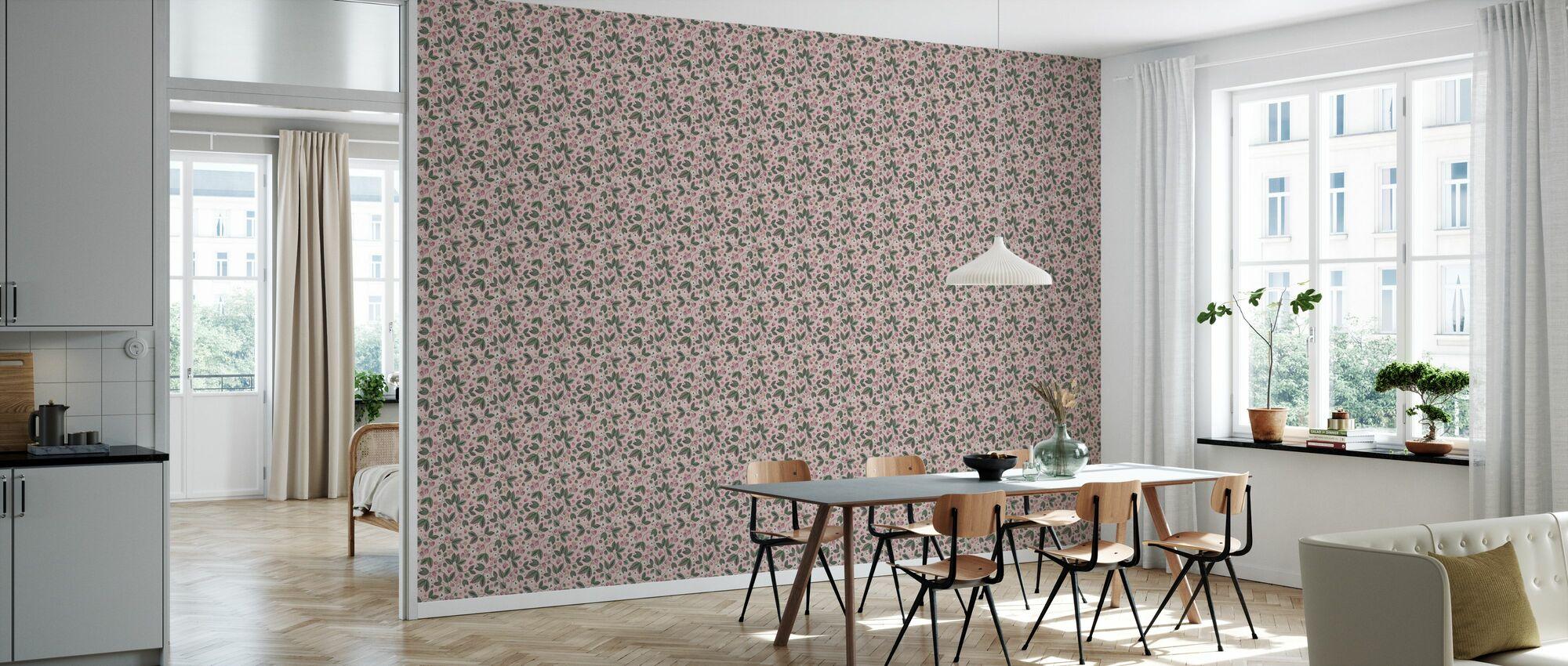The Raspberry Garden Pink - Wallpaper - Kitchen
