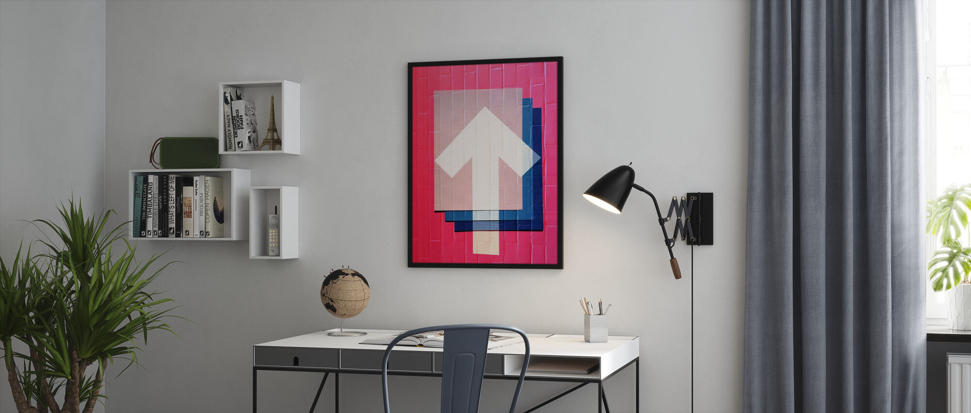 Pink Graffiti - Poster - Office
