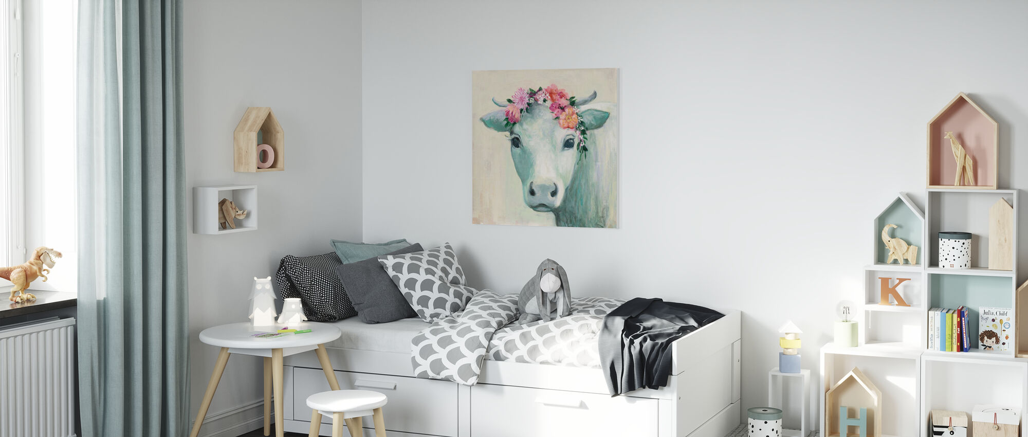 Festival Girl II - Canvas print - Kids Room