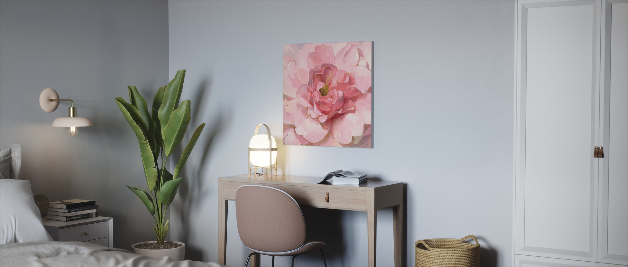Pivoine rougissante - Impression sur toile - Bureau