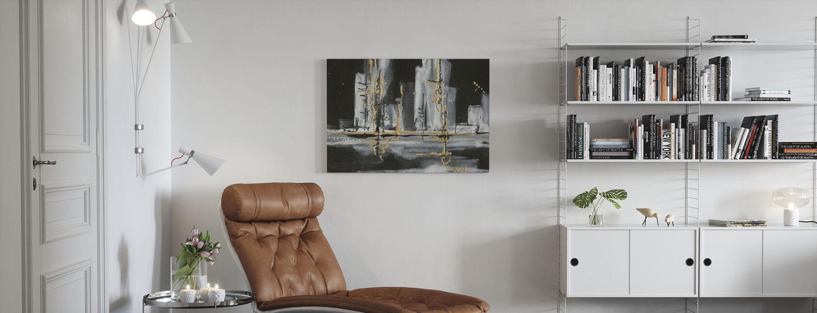 Złoto miejskie - Obraz na płótnie - Pokój dzienny