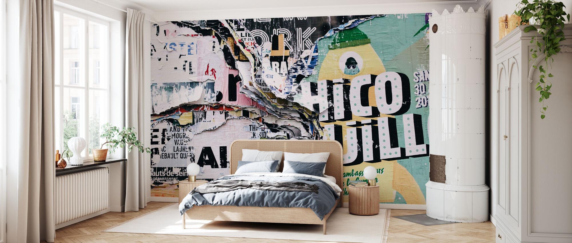 Graffiti i lag - Tapet - Soveværelse