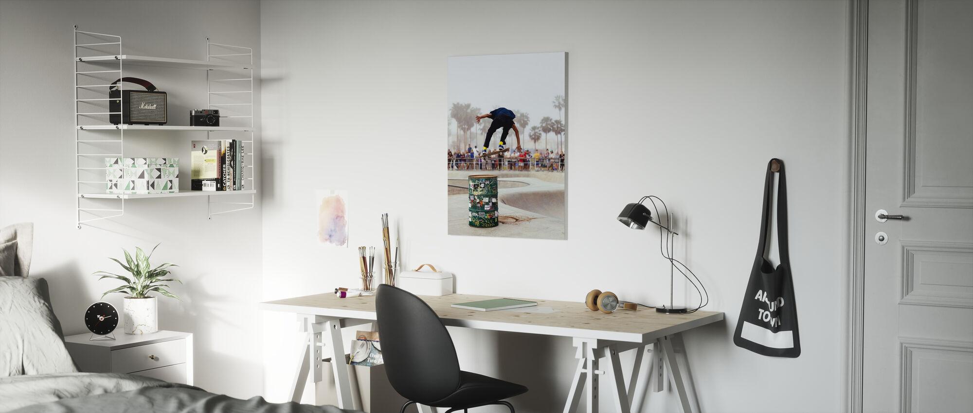 Hangtime Skateboard - Billede på lærred - Børneværelse