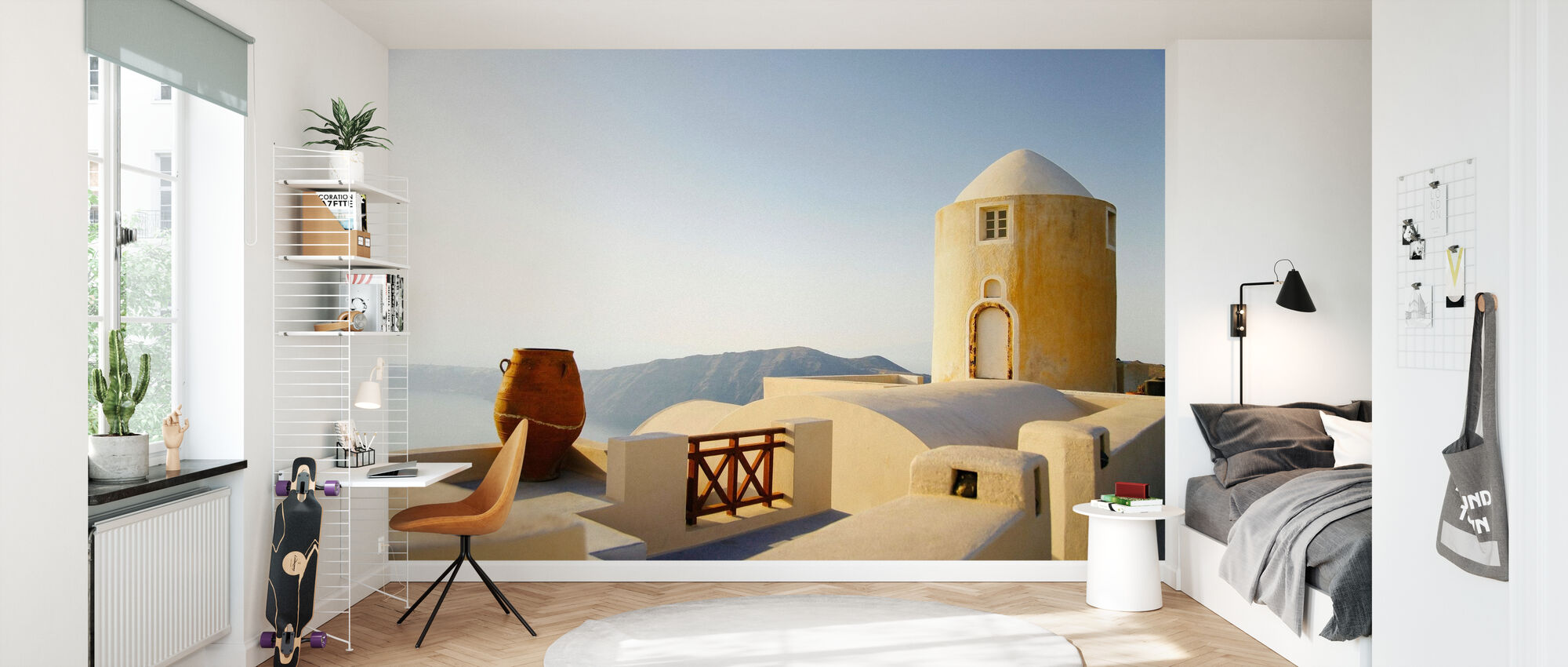 Santorini Building - Wallpaper - Kids Room