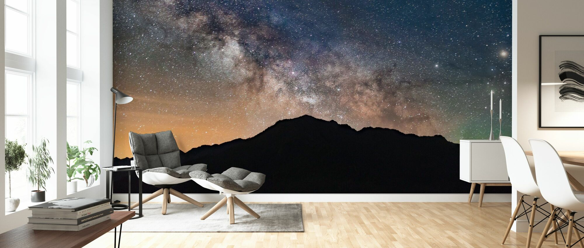 Milky Way View - Wallpaper - Living Room