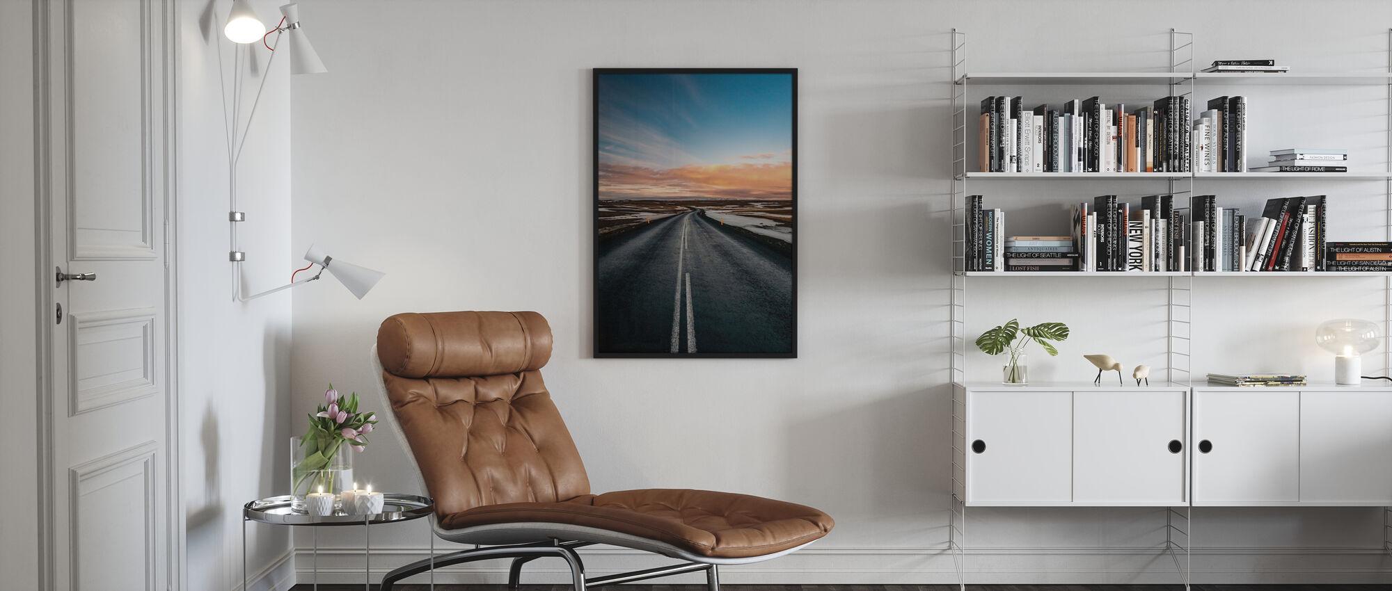 Veien til Dettifoss - Innrammet bilde - Stue
