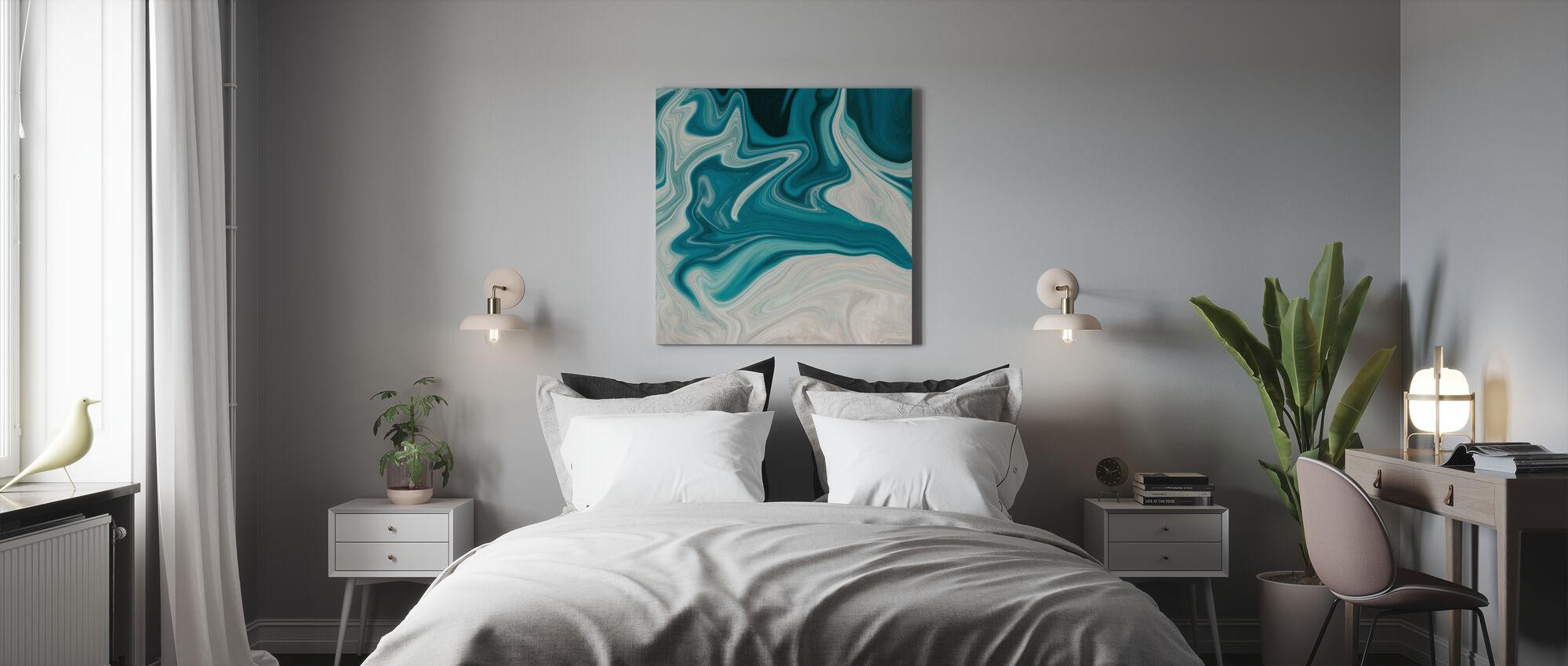 Marmorimeri - Canvastaulu - Makuuhuone