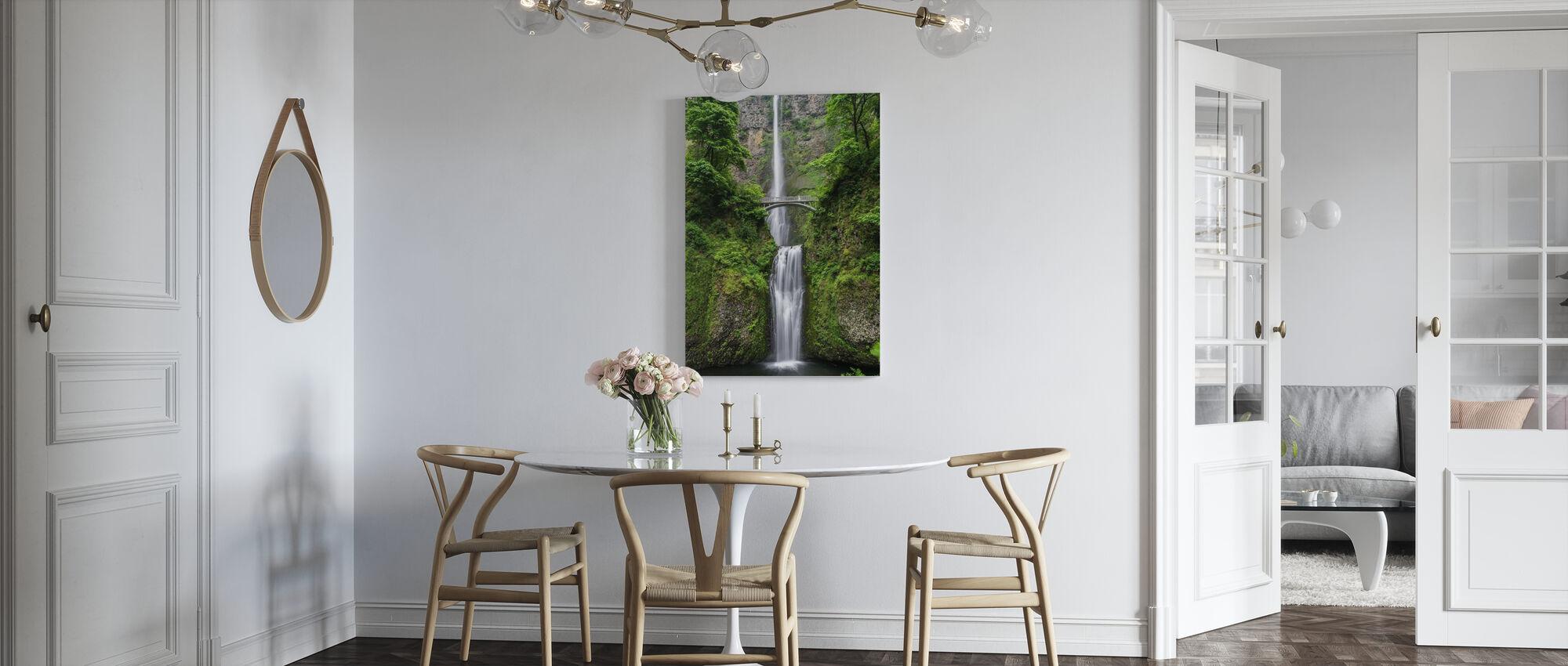 Bridge and Waterfall - Canvas print - Kitchen