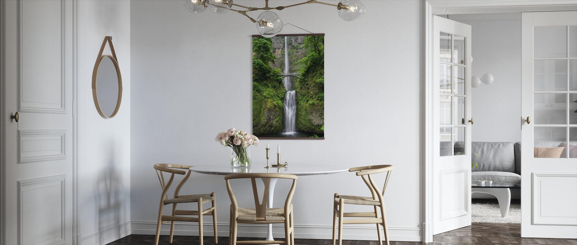 Brücke und Wasserfall - Poster - Küchen