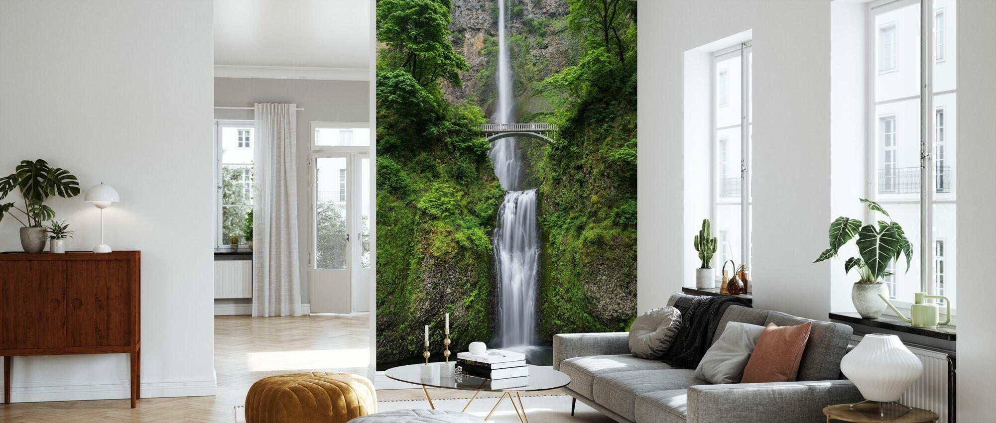Bridge and Waterfall - Wallpaper - Living Room