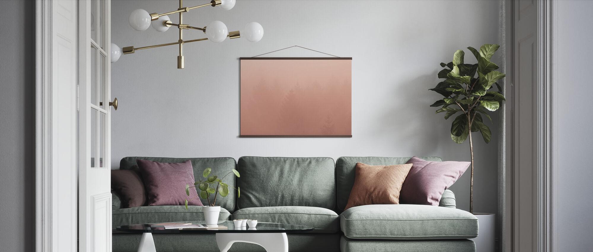 Forest Fog - Poster - Living Room
