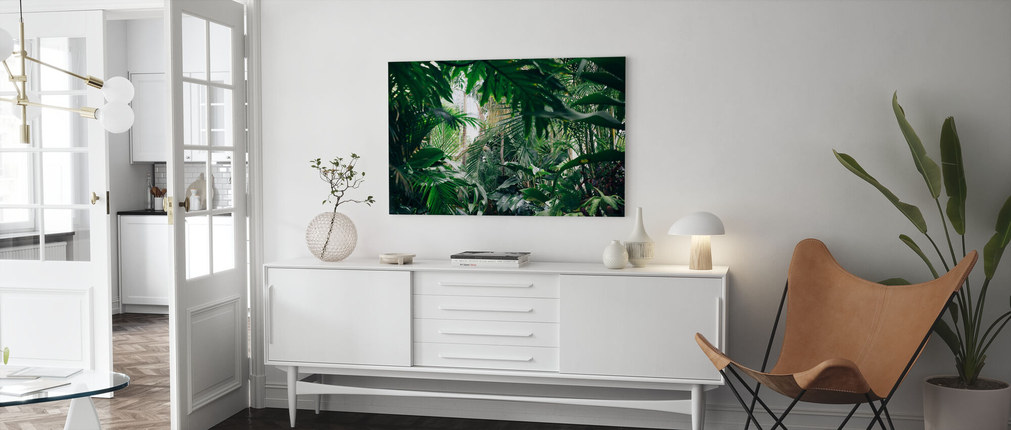Jungle Plants - Canvas print - Living Room