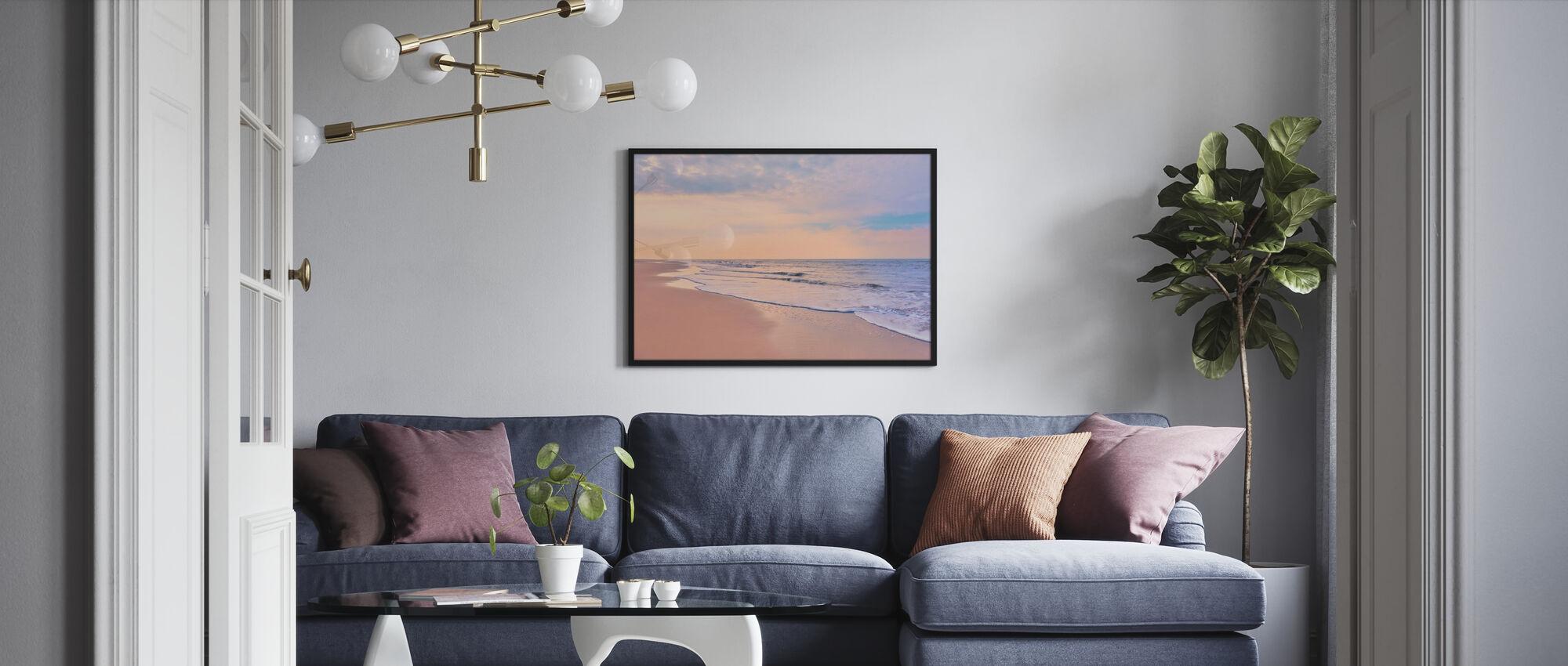Strand bij Dawn - Ingelijste print - Woonkamer