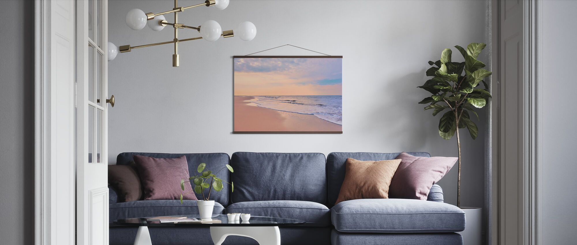 Strand ved Dawn - Plakat - Stue