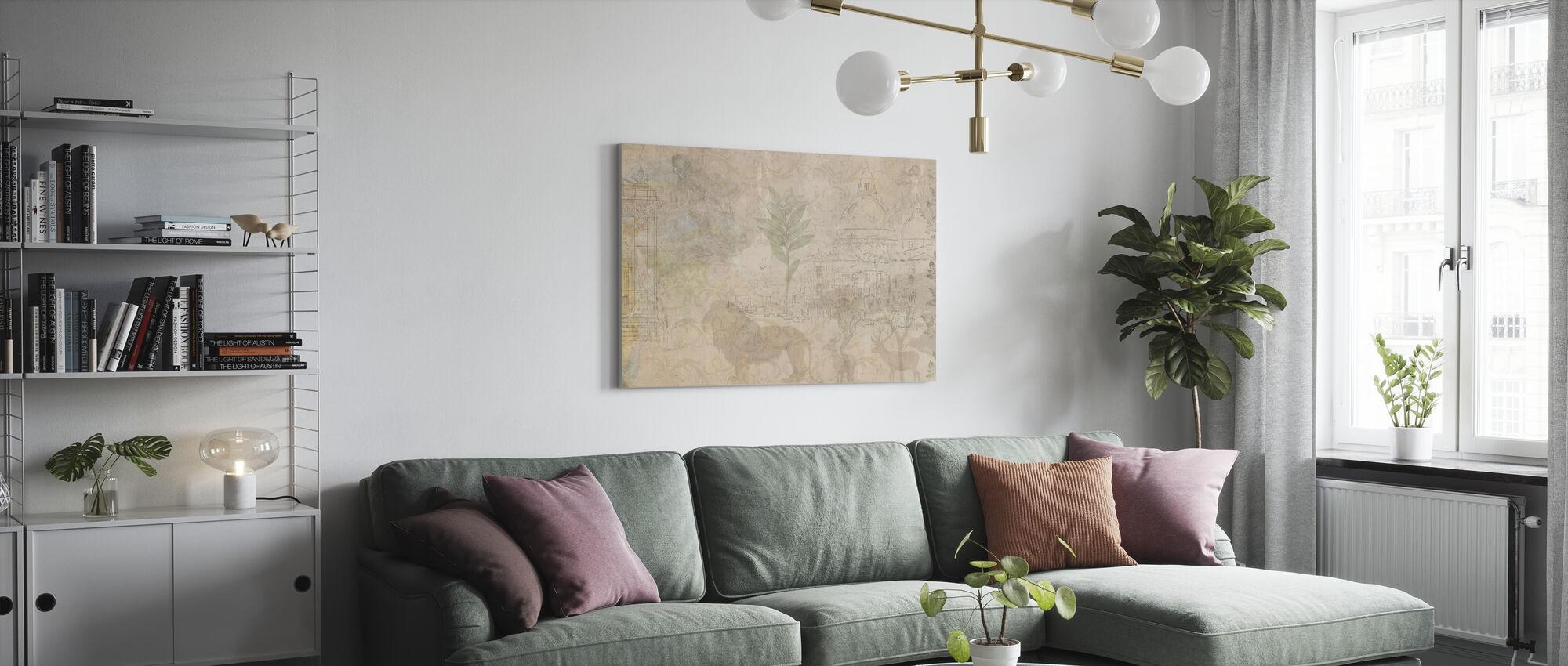 Reminiscence Series Safari - Canvas print - Living Room