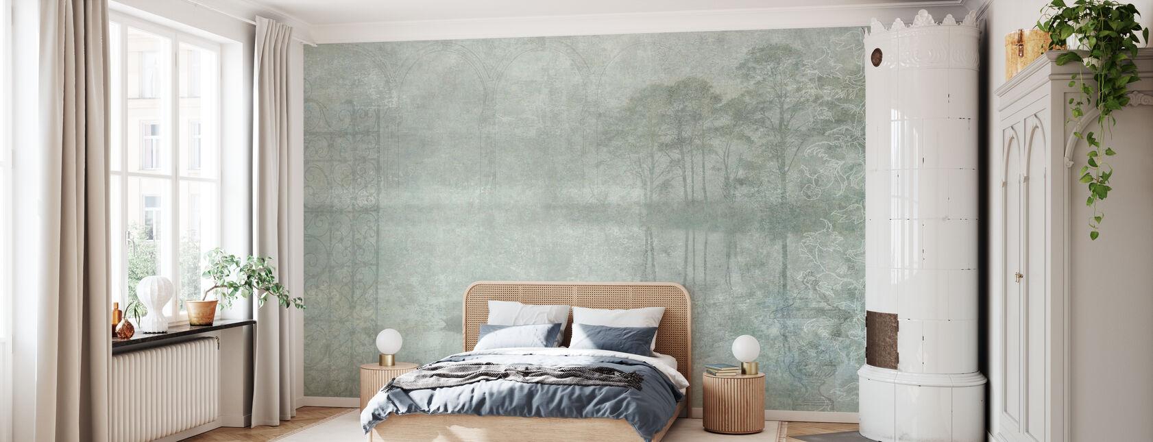 Reminiscence Serie Schwan - Tapete - Schlafzimmer