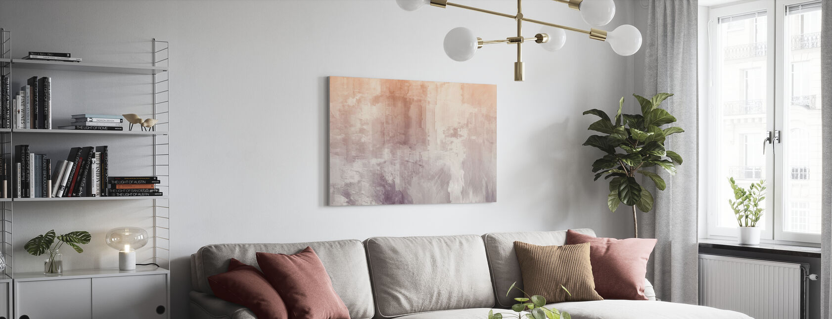 Karkeat akvarellit - Canvastaulu - Olohuone