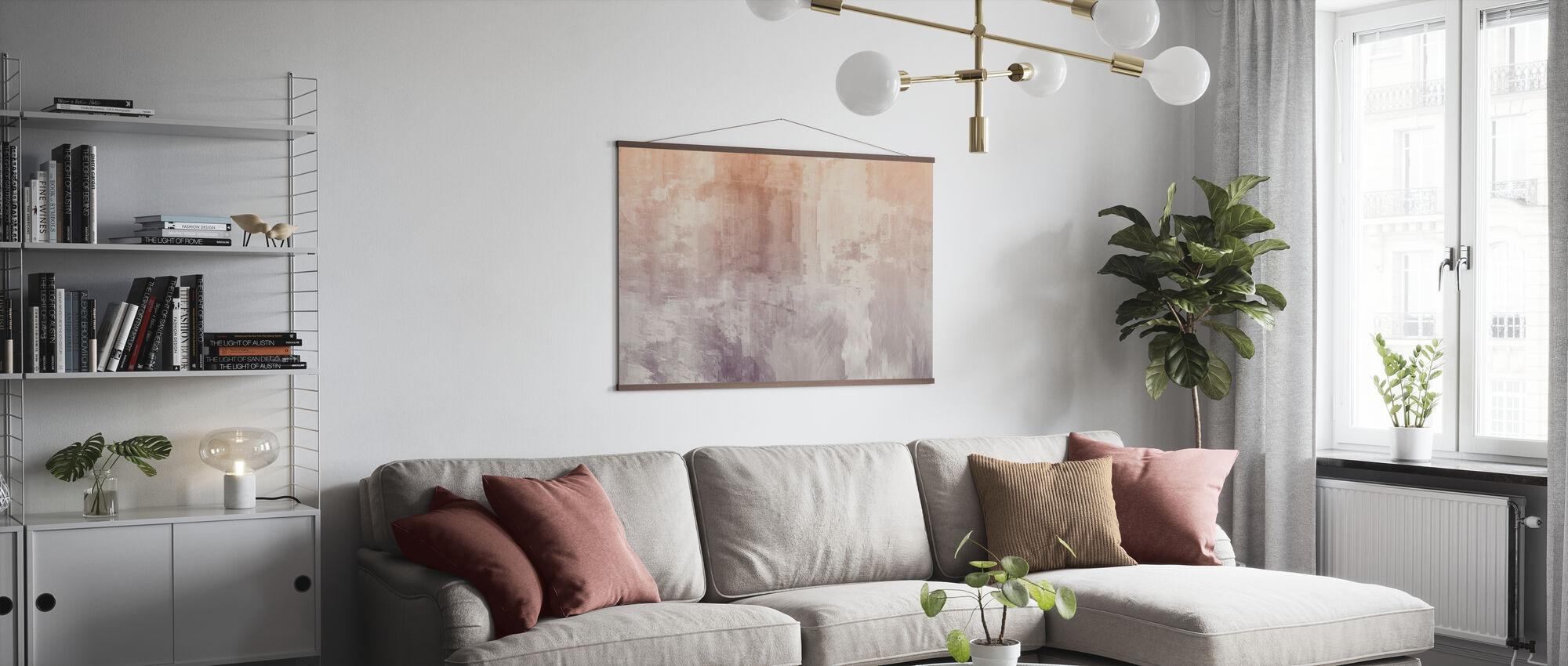 Ruwe aquarellen - Poster - Woonkamer