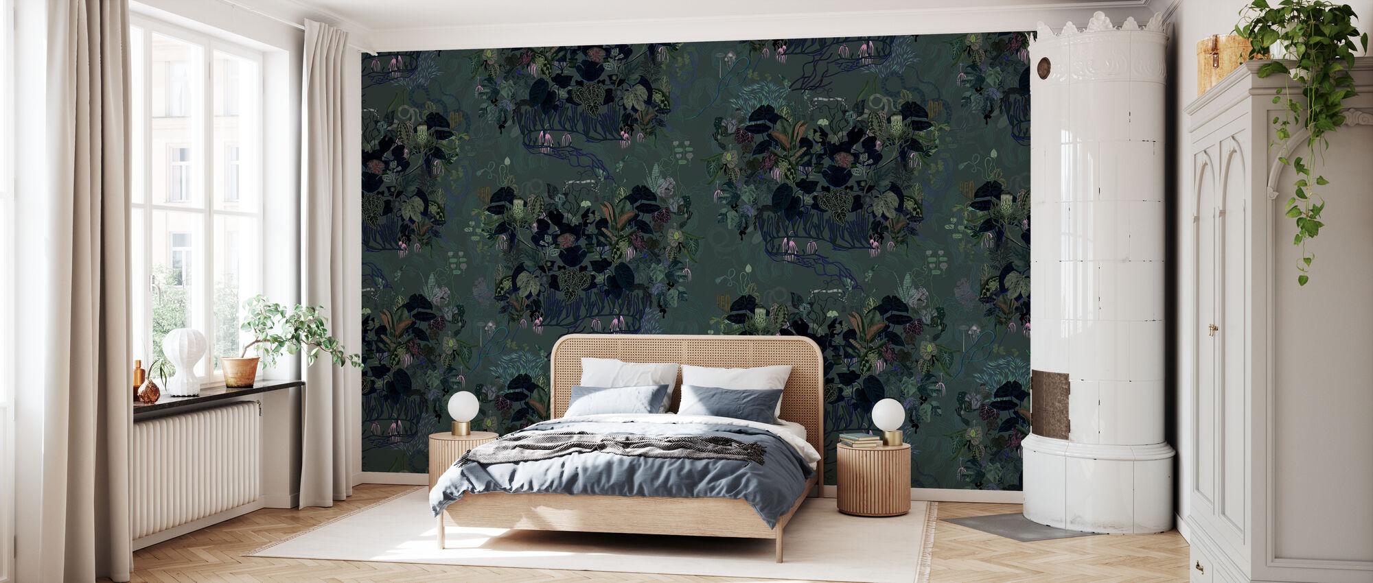Dark Leaves II - Wallpaper - Bedroom