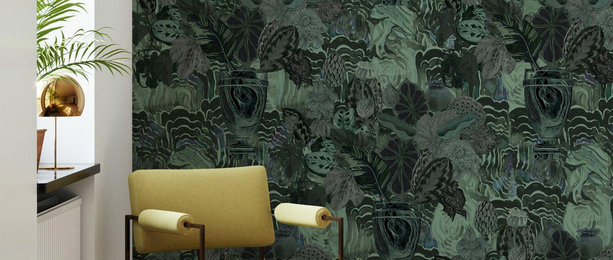 Smaragd Moss - Tapet - Stue