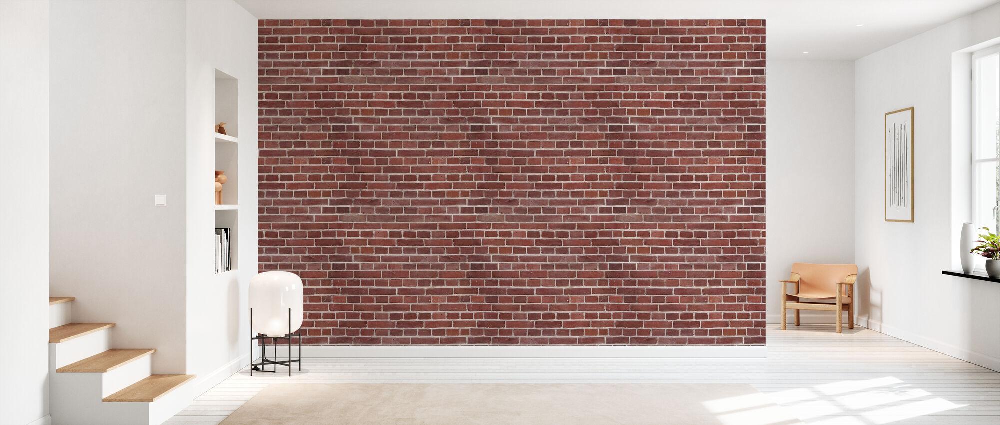 Shades of Red Brick Wall - Wallpaper - Hallway