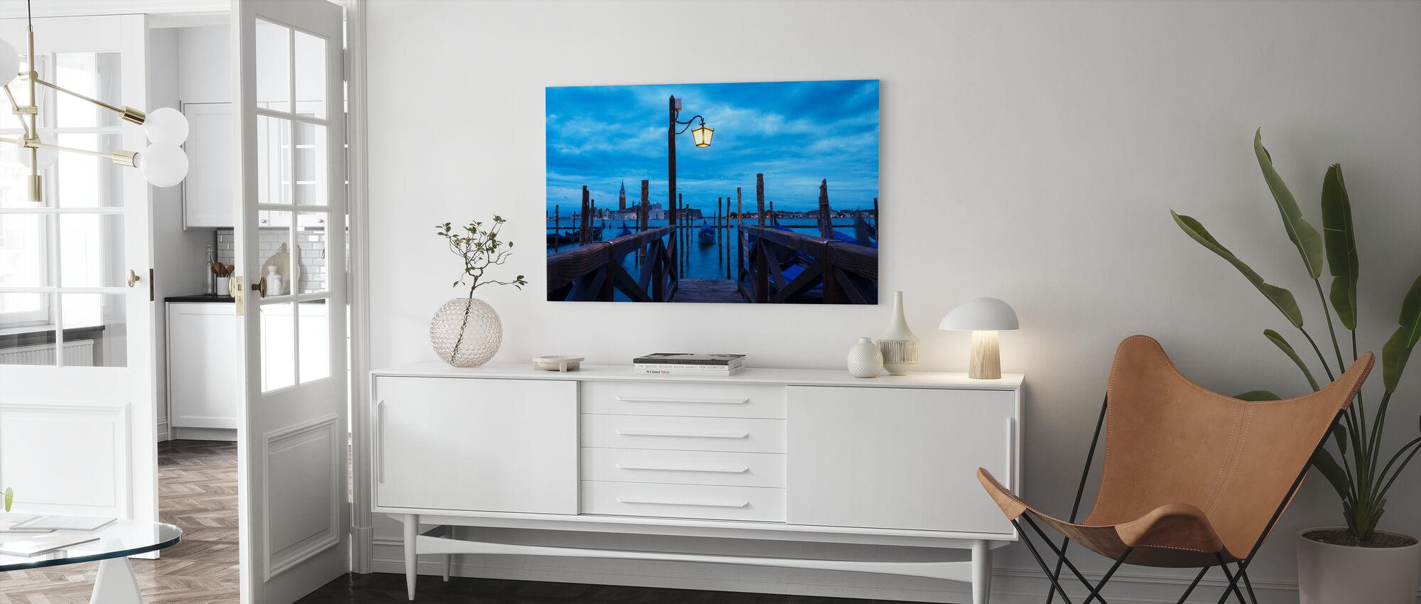 Venice Italy Pier - Canvas print - Living Room