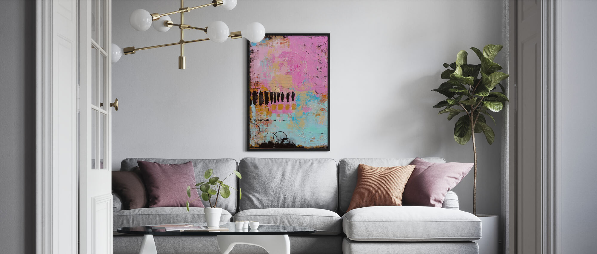 Abstract Cordero - Poster - Living Room