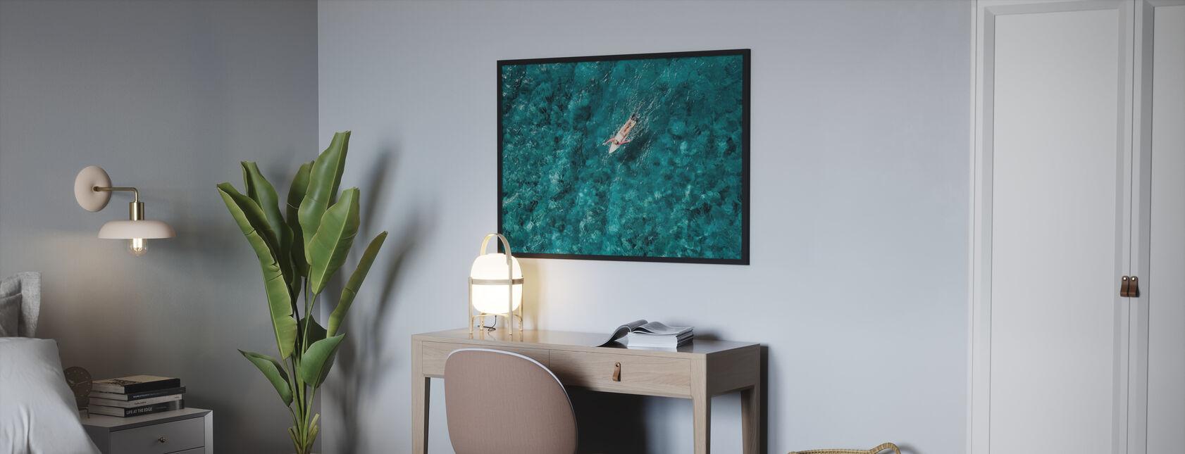 Surf Paddling i havet - Poster - Sovrum