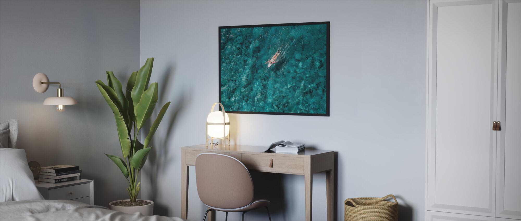 Surf Paddling in mare - Poster - Camera da letto