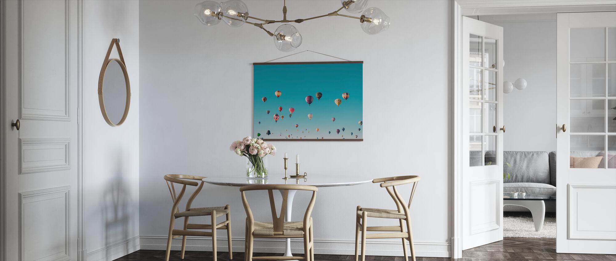 Hete Luchtballonnen - Poster - Keuken