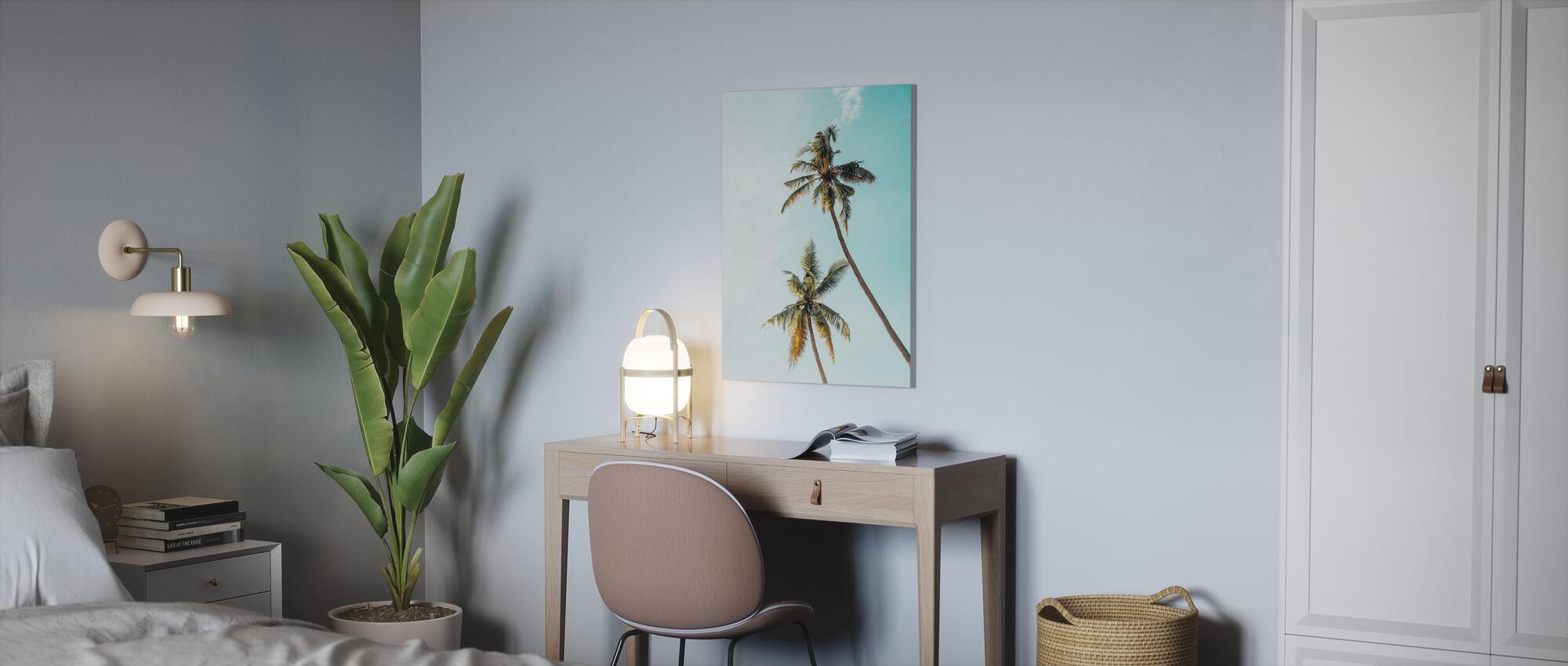Kokosnoot Palm Boom - Canvas print - Kantoor