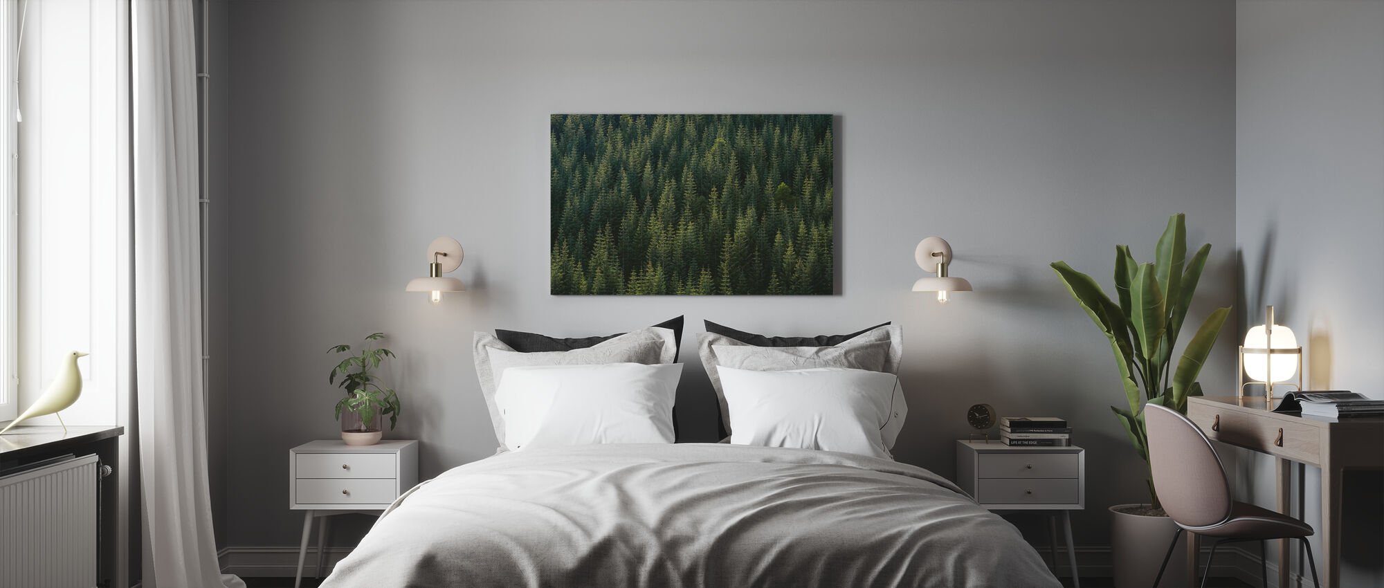 Pine Tree Forest - Canvas print - Bedroom
