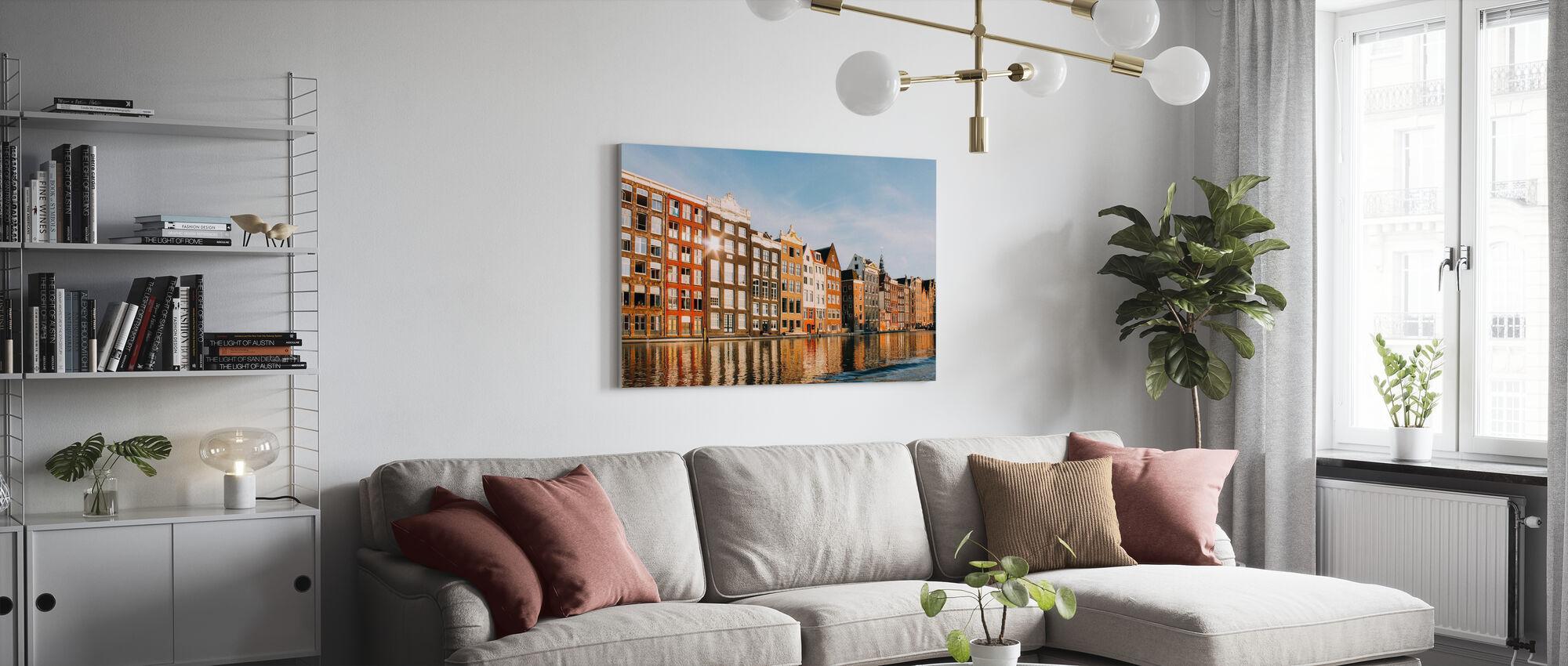 Amsterdam Buildings - Canvas print - Living Room