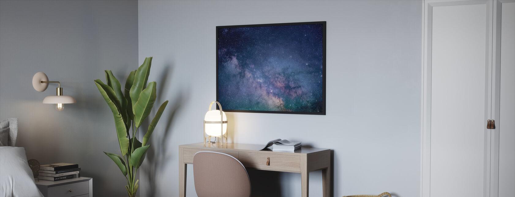 Galaxy Stars - Framed print - Bedroom