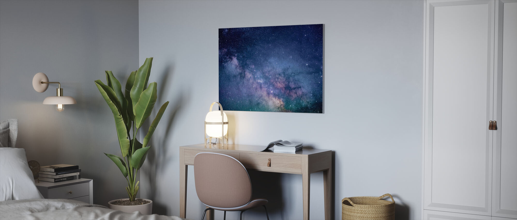 Galaxie Sterne - Leinwandbild - Büro