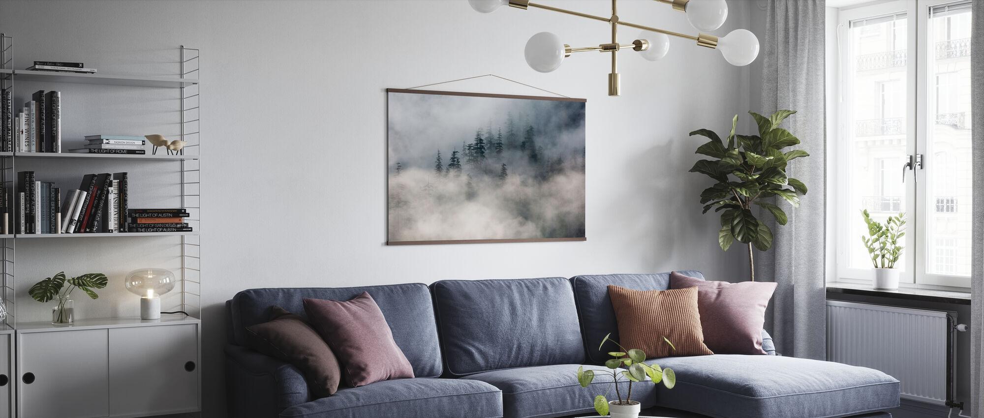 Skog Tåke - Plakat - Stue