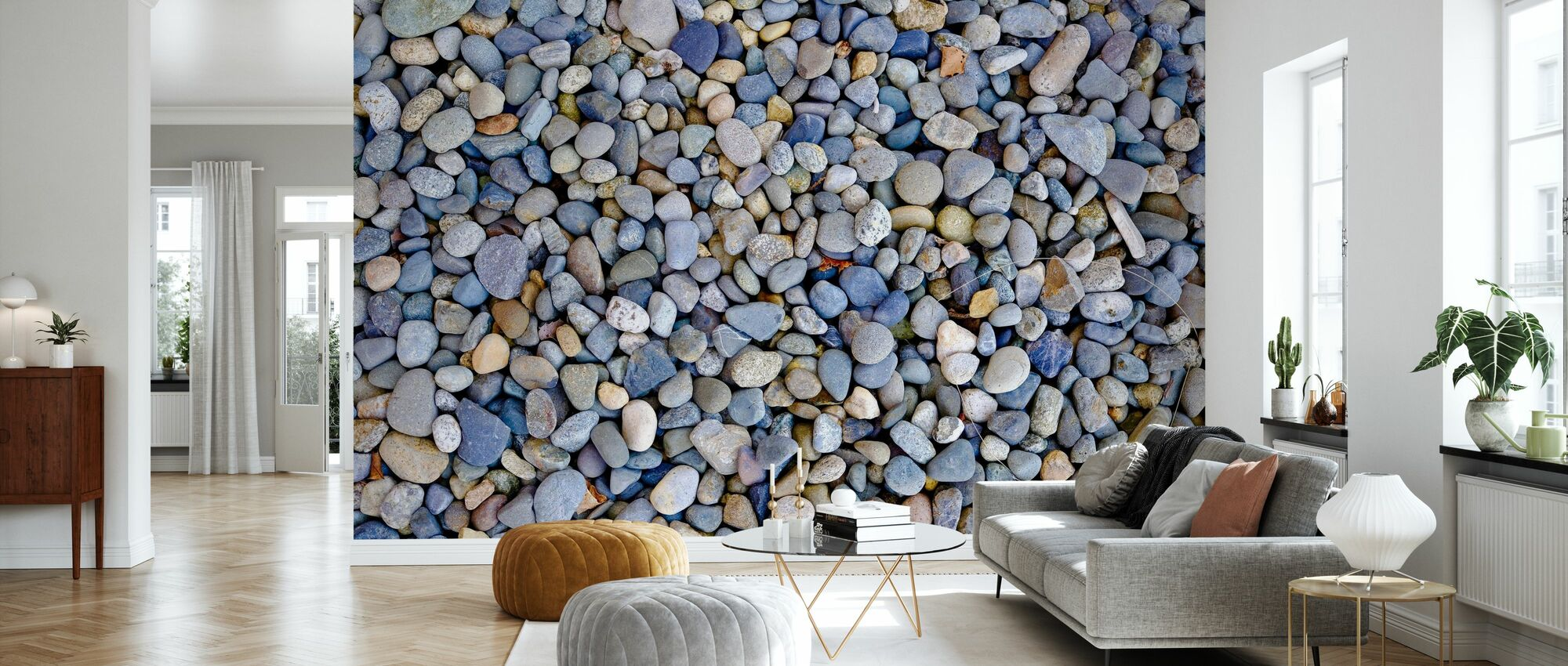 Colorful Pebbles - Wallpaper - Living Room