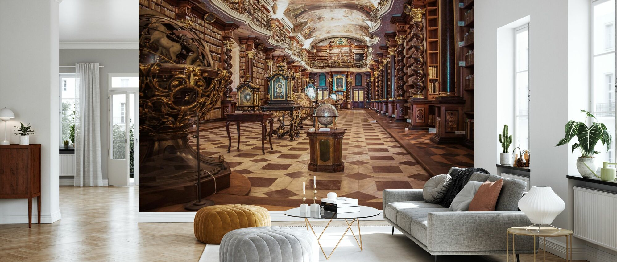 Library of Science - Wallpaper - Living Room