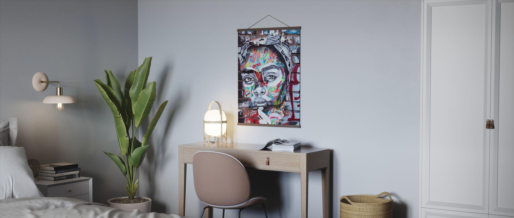 Street Art Portrait - Poster - Office