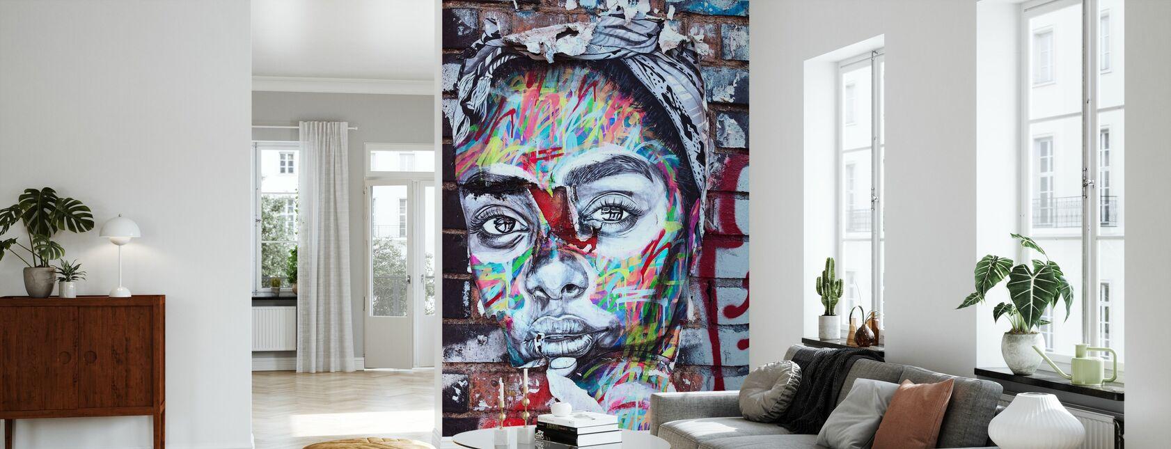 Gatekunst Portrett - Tapet - Stue