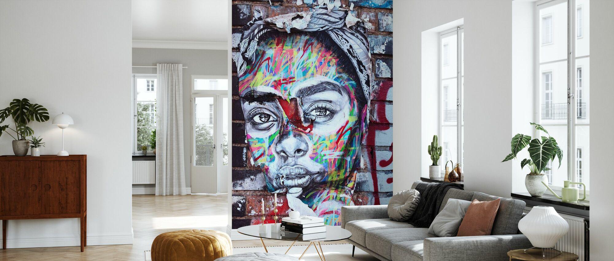 Street Art Portrait - Wallpaper - Living Room