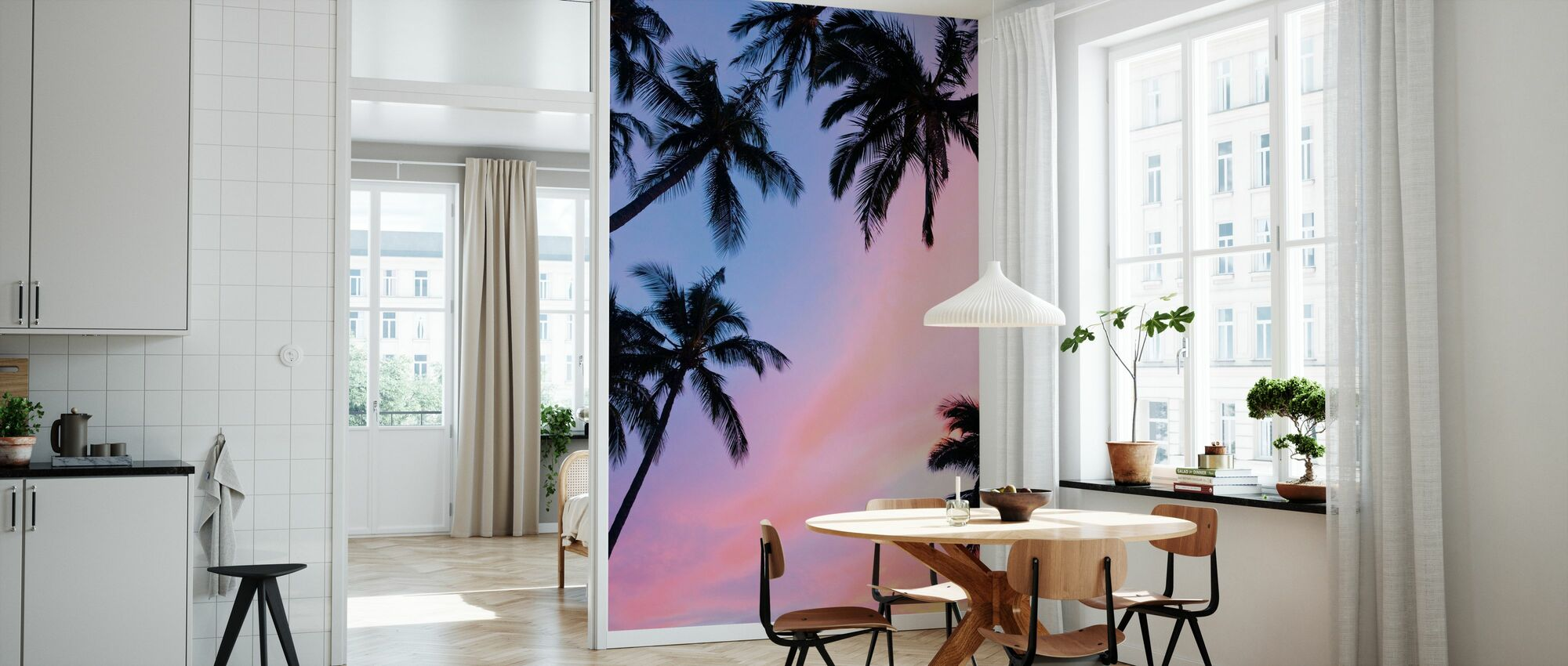 Palm Tree and Colorful Sky - Wallpaper - Kitchen