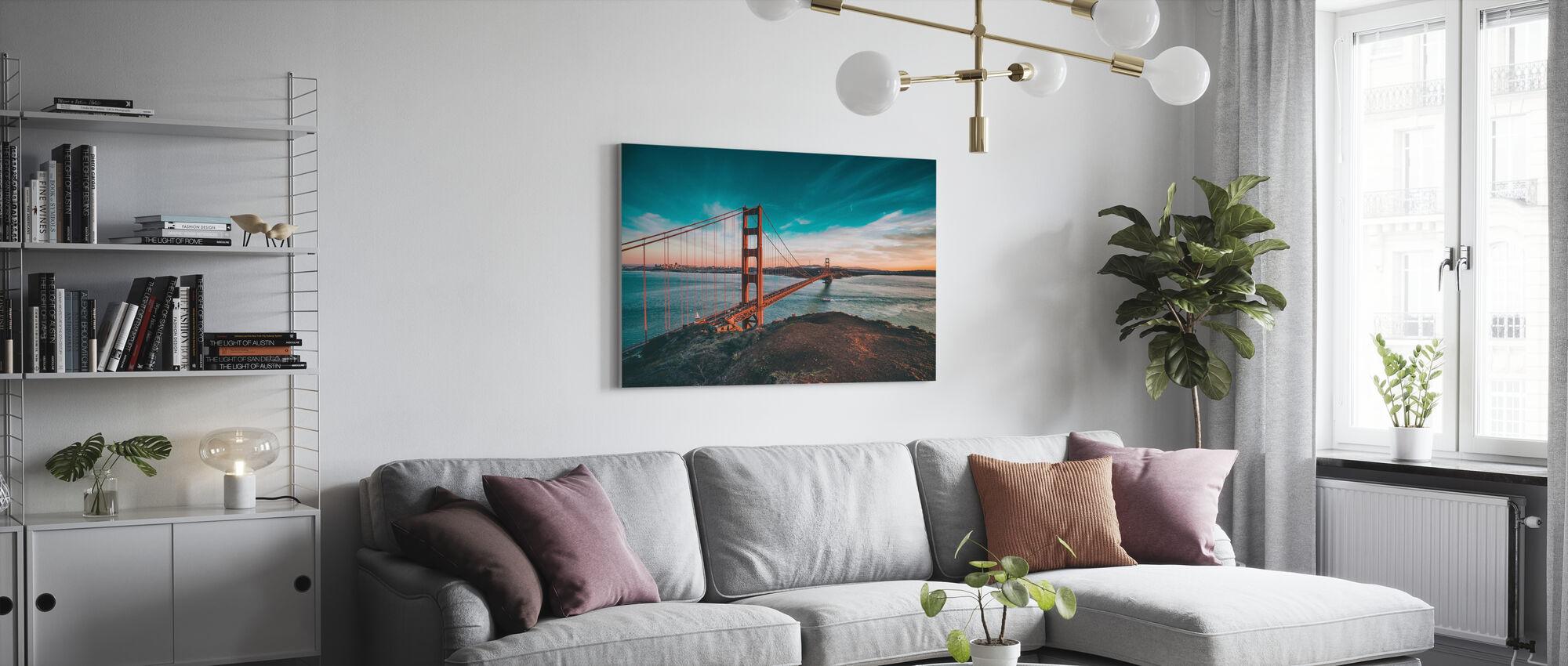 San Franciscos bro - Billede på lærred - Stue