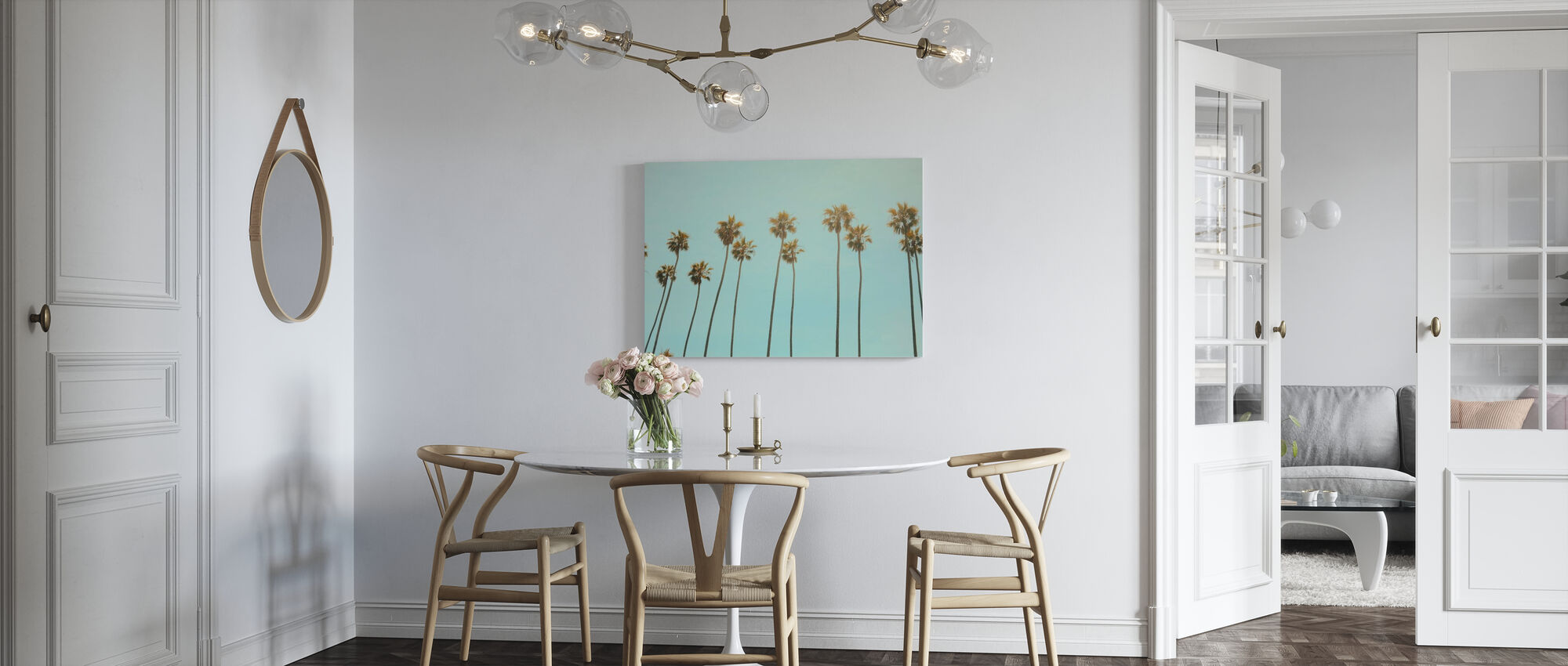 Santa Monica Palm Trees - Canvas print - Kitchen