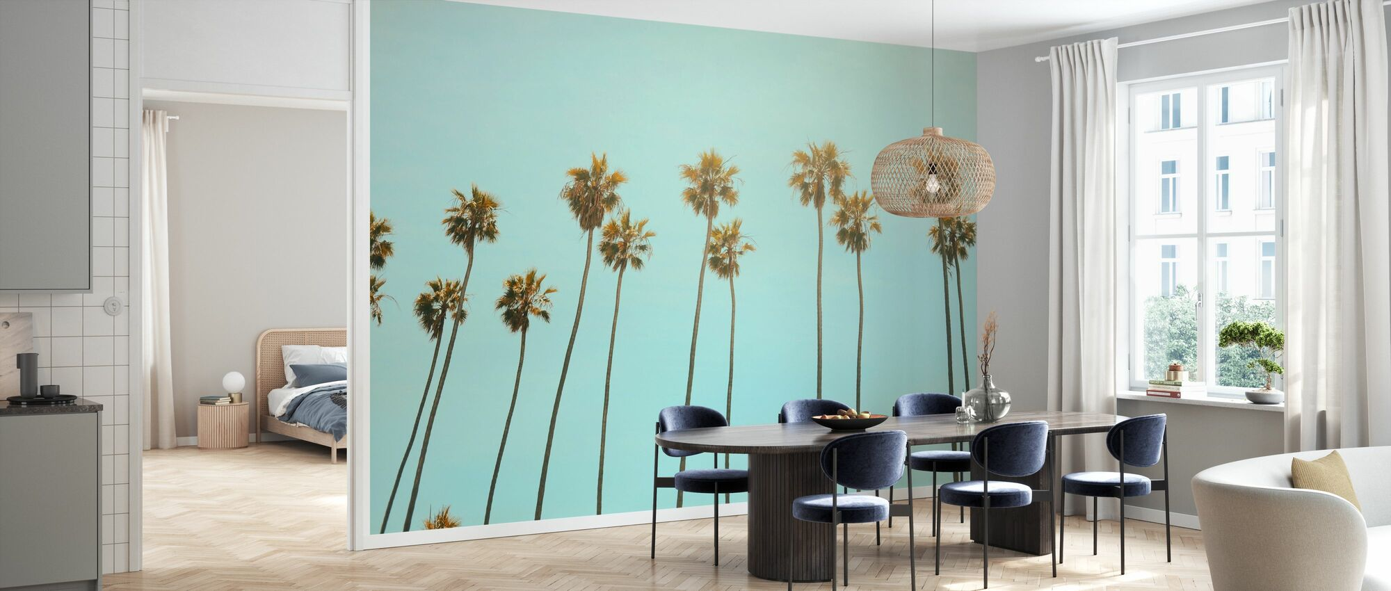 Santa Monica Palm Trees - Wallpaper - Kitchen