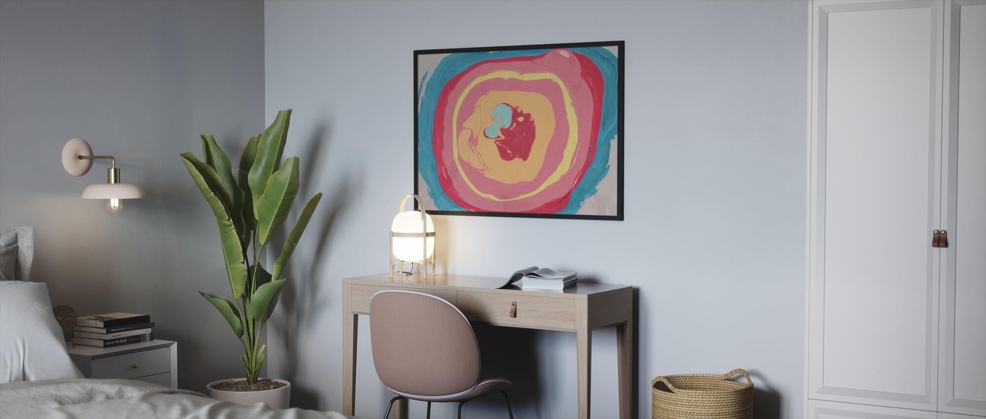 Abstrakcyjna farba marmurowa - Obraz w ramie - Sypialnia